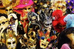 Masks and Venice, Italy Royalty Free Stock Images