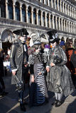 Masks in Venice during Mardi Gras. People with masks in Venice Stock Images