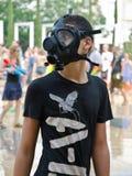 Masks in Water war Royalty Free Stock Image