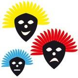 Masks on white background Stock Photography