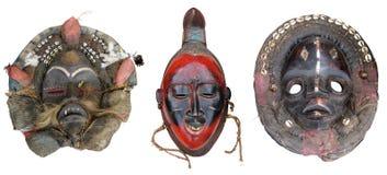 Masks4 africano Imágenes de archivo libres de regalías