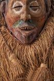 maskuje afrykańskiego drewna z włosy odosobniony Zdjęcie Royalty Free