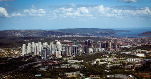 Maslak - levent finance discrit from helicopter / istanbul - turkey Royalty Free Stock Photography