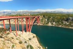 Maslenica Brücke stockfotos