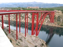 Maslenica bridge Royalty Free Stock Photos