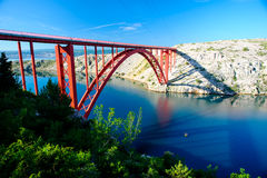 The Maslenica Bridge Royalty Free Stock Image