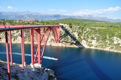 Maslenica bridge Royalty Free Stock Photo