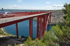 Maslenica Bridge Royalty Free Stock Photo