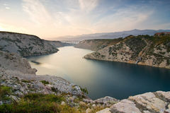Maslenica Strait Royalty Free Stock Photography