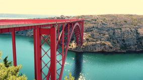 Maslenicabrug Kroatië stock videobeelden