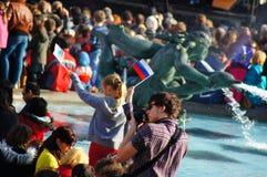 Maslenitsa俄国人太阳节日在伦敦 库存照片