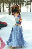 Maslenitsa俄国玩偶狂欢节-冬天的标志 库存照片
