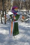 Maslenitsa俄国玩偶狂欢节-冬天的标志 免版税图库摄影