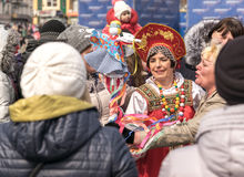 Maslenitsa是一个东部斯拉夫的宗教和民间假日 图库摄影