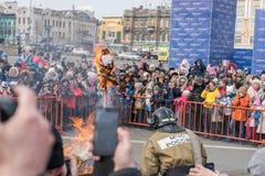Maslenitsa是一个东部斯拉夫的宗教和民间假日 免版税库存照片