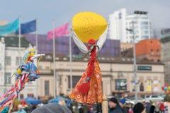Maslenitsa是一个东部斯拉夫的宗教和民间假日 免版税库存图片