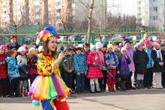 Maslenitsa,一个传统春天假日在俄罗斯 图库摄影