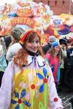 maslenitsa Μόσχα ρωσικά καρναβαλι&om Στοκ Εικόνα