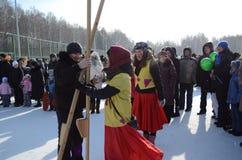 maslenitsa Τομσκ γιορτής Στοκ Φωτογραφίες