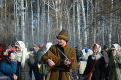 maslenitsa Τομσκ γιορτής Στοκ Φωτογραφία