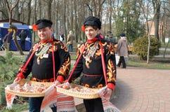 Maslenitsa Abschied zum Winter Lizenzfreie Stockfotos