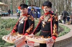 Maslenitsa Afscheid aan de winter royalty-vrije stock foto