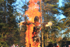 Maslenitsa, burning of an effigy Royalty Free Stock Photo