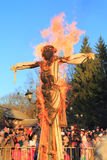 Maslenitsa, burning of an effigy Stock Photos
