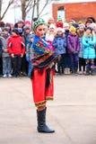 Maslenitsa, des vacances traditionnelles de ressort en Russie Images stock