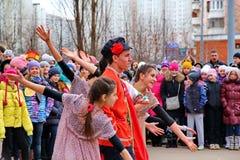 Maslenitsa, des vacances traditionnelles de ressort en Russie Image libre de droits
