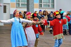Maslenitsa, des vacances traditionnelles de ressort en Russie Images libres de droits