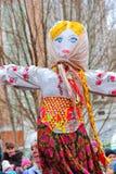 Maslenitsa, des vacances traditionnelles de ressort en Russie Photographie stock libre de droits