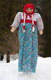 Maslenitsa doll stock photo