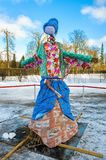 Maslenitsa doll. During spring holiday of Maslenitsa royalty free stock photos