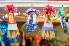 Maslenitsa dolls stock images