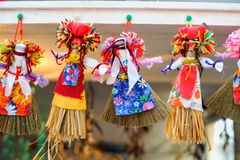 Maslenitsa dolls stock photography