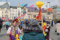 Maslenitsa is an Eastern Slavic religious and folk holiday. Stock Photo
