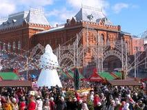 Maslenitsa en Moscú, Rusia imagen de archivo libre de regalías