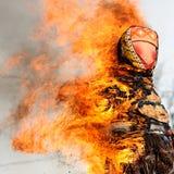 Maslenitsa fest. Burning Masle Stock Photography