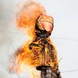Maslenitsa fest. Burning Maslenitsa Lady Stock Images