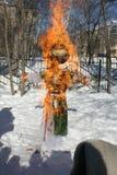 Maslenitsa lali Rosyjski karnawał - symbol zima Obrazy Stock