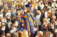 Maslenitsa-Russe Sun-Festival in London lizenzfreie stockbilder