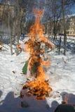 Maslenitsa Russian Doll Carnival - a symbol of winter Stock Image