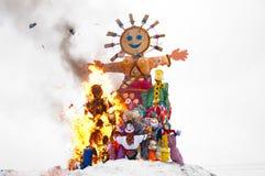 Maslenitsa - russischer religiöser Feiertag lizenzfreies stockfoto
