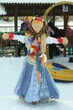 Maslenitsa rysk dockakarneval - ett symbol av vintern royaltyfri fotografi