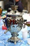 Maslenitsa - samovar ruso Imagen de archivo
