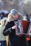 Maslenitsa (Shrovetide) em Rússia fotografia de stock royalty free