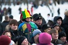 Maslenitsa (Shrovetide) em Rússia imagens de stock royalty free
