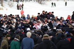 Maslenitsa (Shrovetide) em Rússia foto de stock