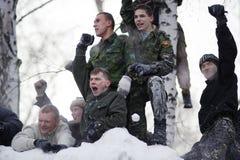 Maslenitsa (Shrovetide) em Rússia fotos de stock